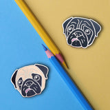 Concerned Pug Hard Enamel Pin