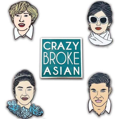 Crazy Rich Asians Enamel Pin Set