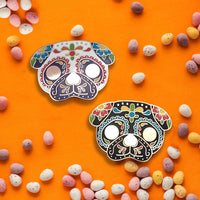 Sugar Skull Pug Hard Enamel Pin
