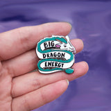 Big Dragon Energy Haku Mood Hard Enamel Pin