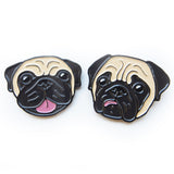 Cheerful Pug & Concerned Pug Enamel Pins