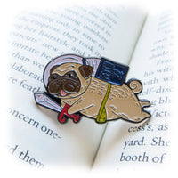 Reading Pug Enamel Pin