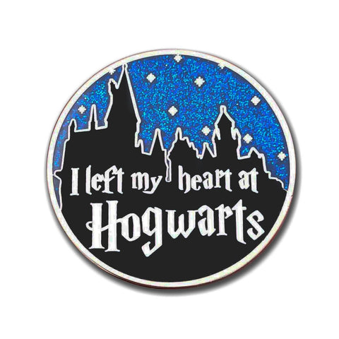 I Left My Heart At Hogwarts Hard Enamel Glitter Pin