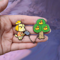 Animal Crossing Chained Pin Set
