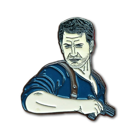 Nathan Drake Uncharted Enamel Pin