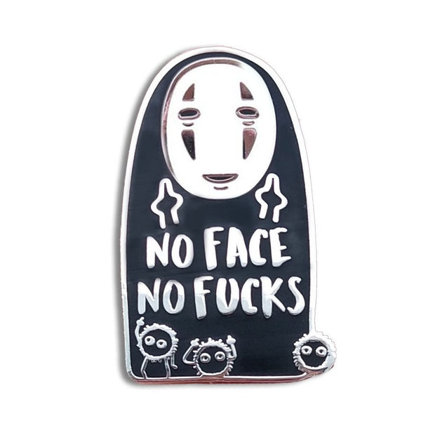 No Face No Fucks Hard Enamel Pin