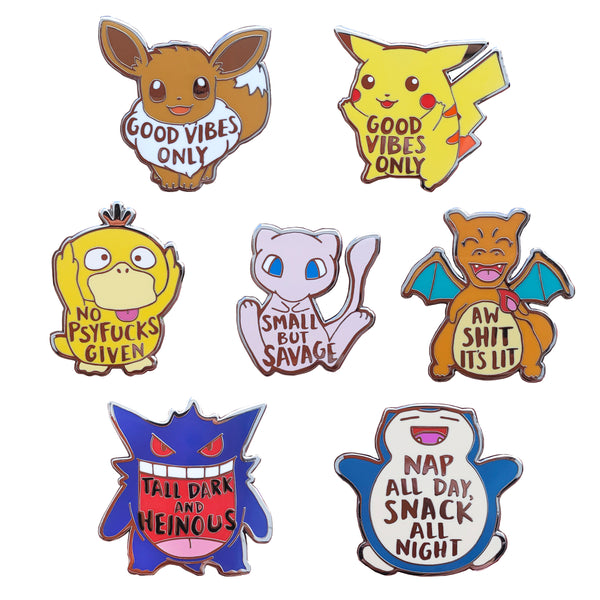 PokeMood Hard Enamel Pin Set