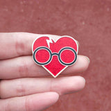 Harry Heart Hard Enamel Glitter Pin