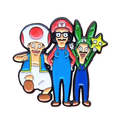 Super Belcher Bros. Enamel Pin