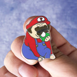 Super Pugrio Hard Enamel Pin