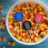 Trick And Treat Razor Blade Lollipop Hard Enamel Pin