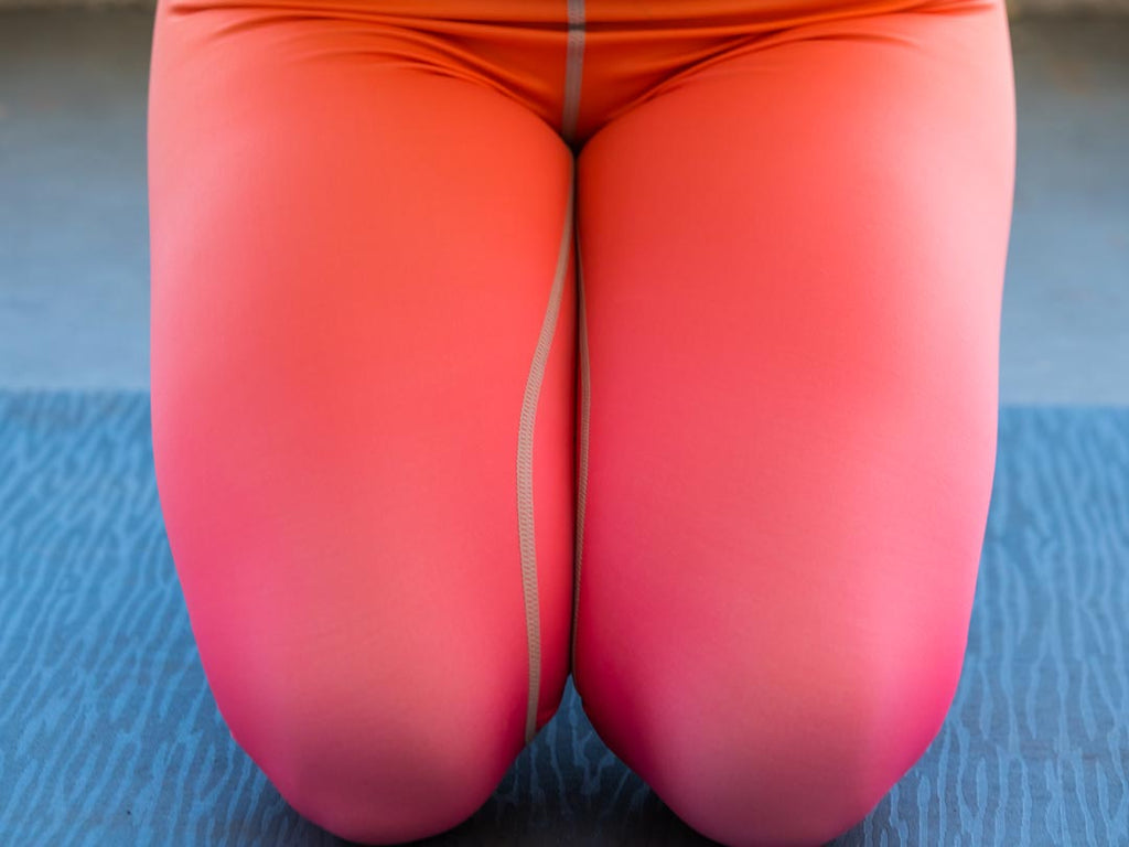 High-Waisted Orange Pink Ombré Yoga Pilates Gym Fitness Skin Leggings