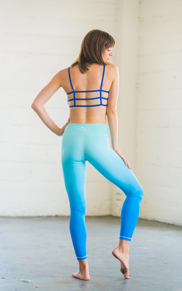 High-Waisted Blue Ombre Flexi Skin Leggings
