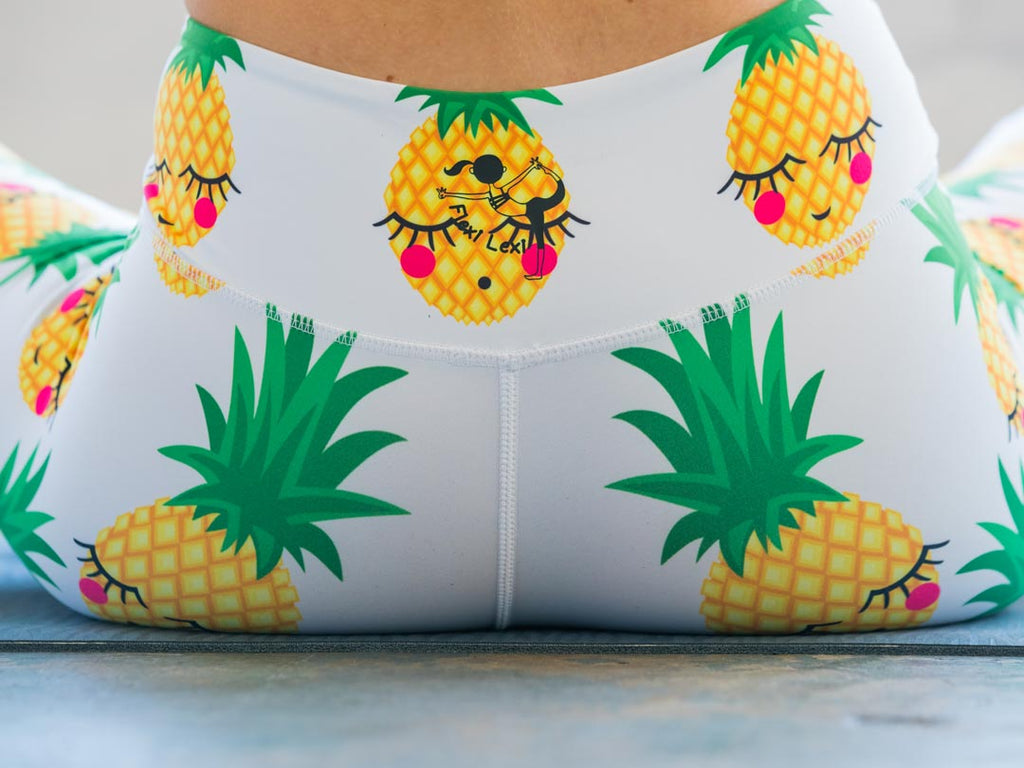 High-Waisted Pineapples Print Yoga Pilates Gym Fitness Skin Leggings