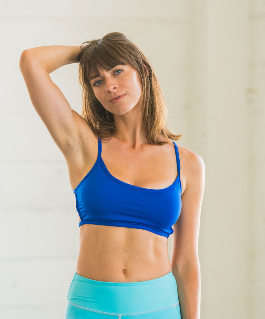 Blue Lexi Bralette Low-Impact Sportsbra Yoga Top
