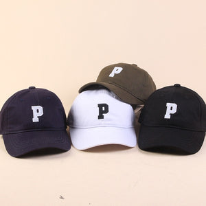 P embroidery hat