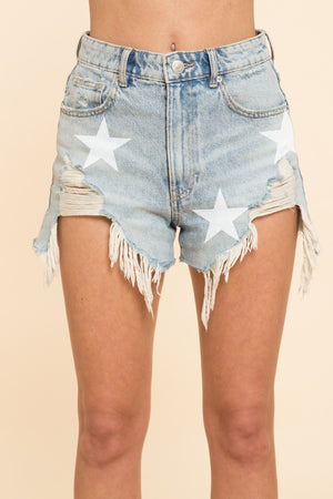 Denim Stars shorts