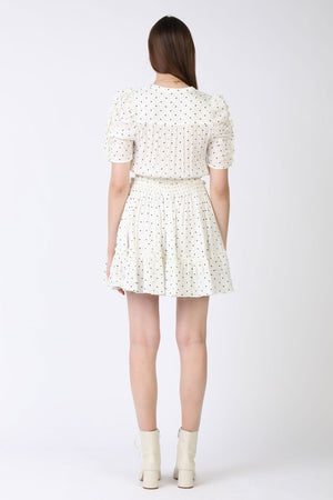 smocked dotted puffy dress