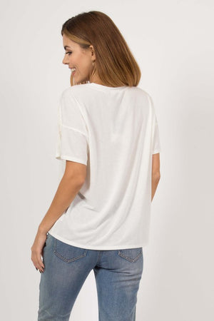 white fringed tshirt