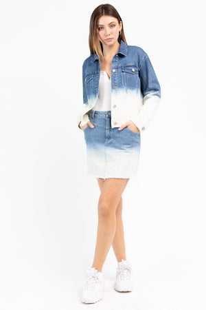DEGRADE DENIM SKIRT