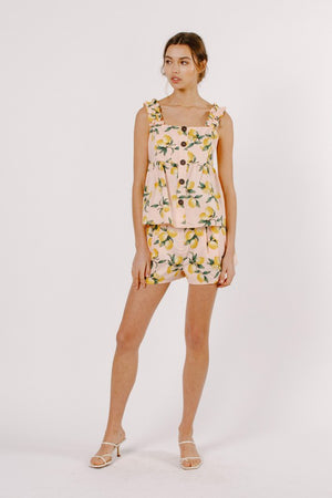 LEMON PRINTED SET