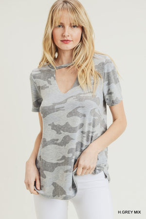 Grey Camo chocker jogger set