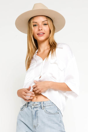 white silky shirt