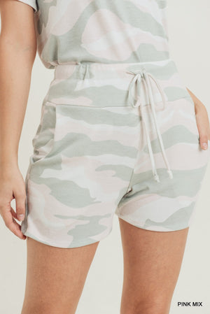 Pink camo shorts set 10 julio