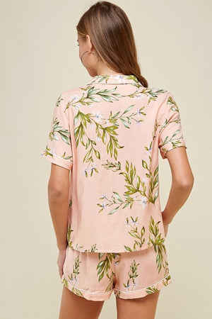 Blush botanical pajama