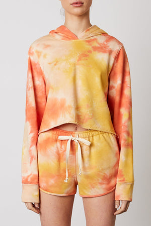 Eco friendly Tie dye coral shorts set