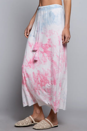 Tie dye long skirt