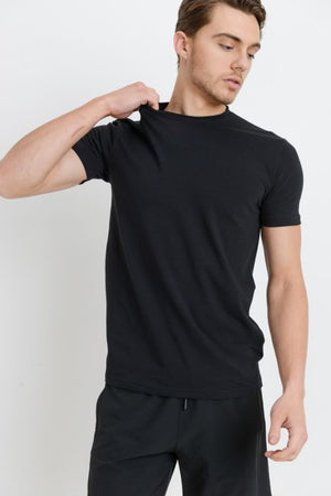 Black basic tshirt for men