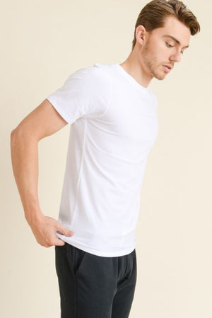 White basic tshirt for men