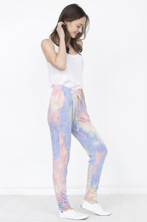 Tie dye zipper jogger set