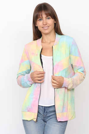 Mint and yellow tie dye jacket