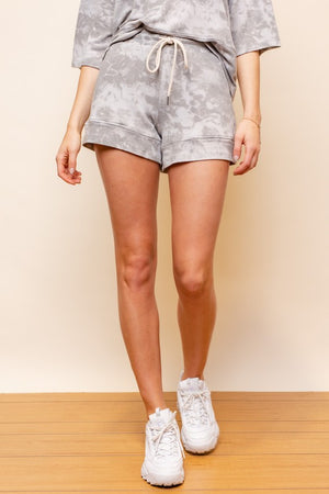 Tie dye grey shorts and top set