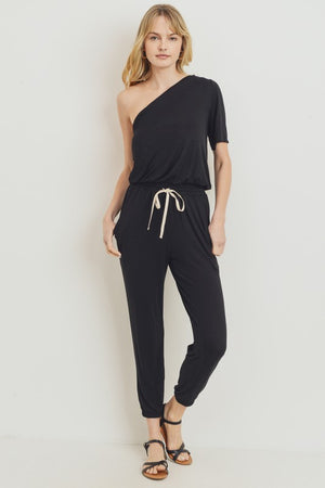 black one shoulder jumpsuit 8 enero