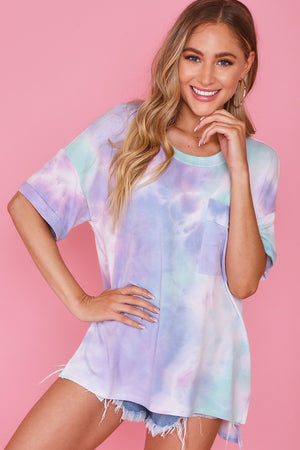 Tie dye purple & mint tshirt