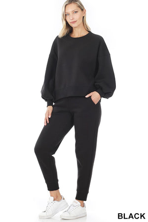 black loungewear set