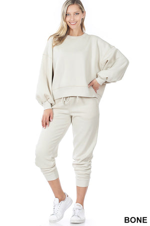 bone loungewear set