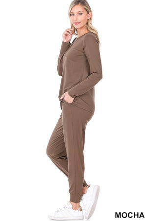 mockha basic loungewear set