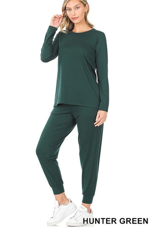 hunter green loungewear set