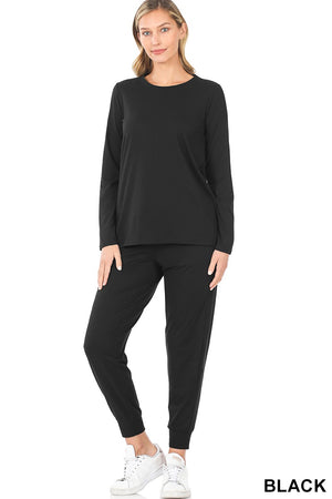 black basic loungewear set