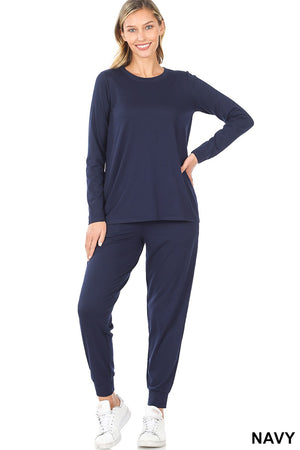 navy loungewear set