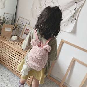 pink fur terry bunny back pack 16 enero