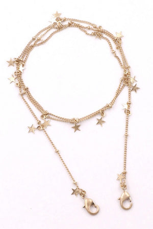 gold stars chain for face mask