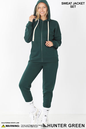 green hunter loungewear set