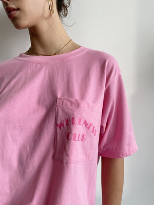 hot pink wellness club tshirt
