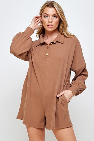 almond collar romper  2 feb