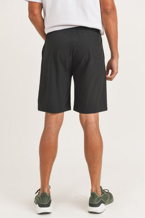 black men drawsting shorts